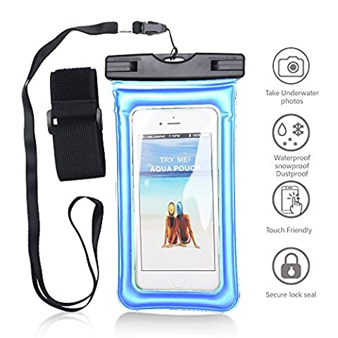 Universal Waterproof Case, Beimu Cellphone Dry Bag Pouch for Apple iPhone 7 6S 6,6S Plus, SE 5S, Galaxy s8 s7 s6 edge, LG G6 G5,HTC Sony Nokia up to 6.0 inches diagonal-IPX8 Certified to 100 (Speck Like Iphone 5s Case)