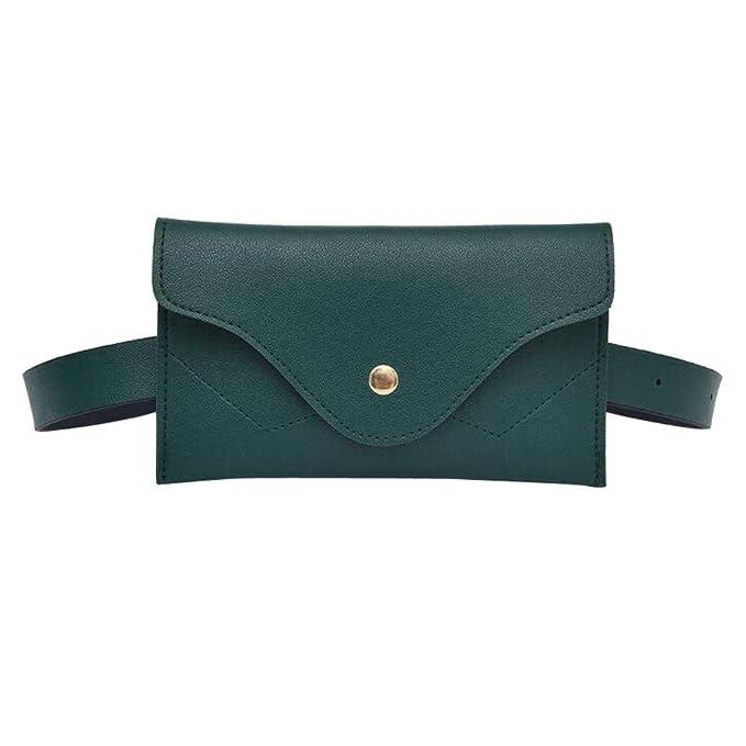 Winkey Sac de Poitrine, la Mode Femme Solide Splice Cuir Messenger Sac à  bandoulière Taille Lot Sac à Main, Green, ... f4db305d728