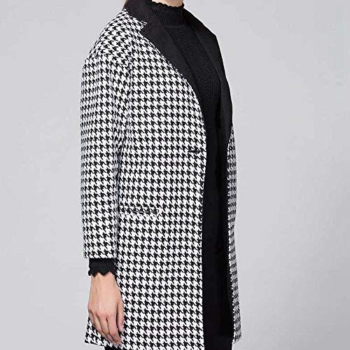 Oversized Cardigan for Women Plus Size,Women Ladies Gird Lapel Patchwork Causal Coat Outwear,Men's Suits & Sport Coats,Black,M