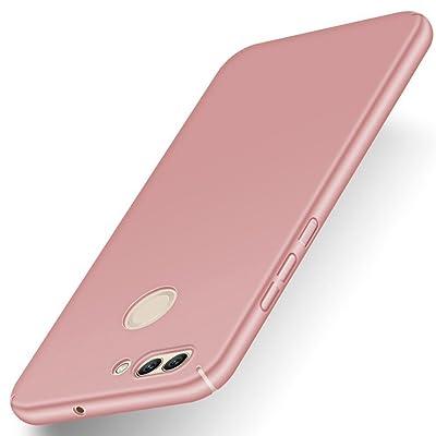 Huawei P smart Funda, Elegante Carcasa Dura Ultra Delgada Por GOGME, Cubierta De Teléfono Limpio Minimalista Anti-ralladuras Para Huawei P smart. oro rosa