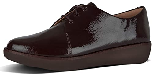 a2341de4bf29 FitflopTM Derby Womens Casual Patent Lace Up Shoes  Amazon.co.uk  Shoes    Bags
