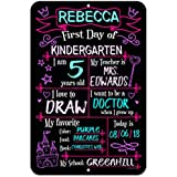 Honey Dew Gifts Large First Day School Princess Chalkboard Style Photo Prop Metal Sign 12 x 18 inch - Reusable Easy Clean Back to School, Customizable Liquid Chalk Markers (Not Included)