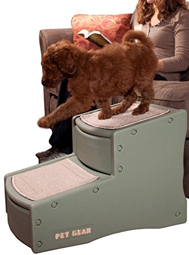 Pet Gear Easy Step II Pet Stairs, 2-step/for cats and dogs up to 150-pounds, (Bed Sage)