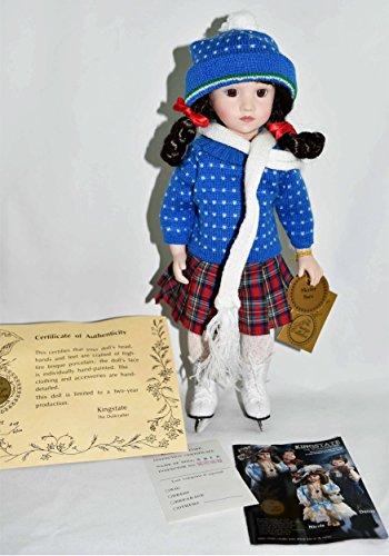 (Kingstate Dolls - Full Body Porcelain Doll ICE Skating SARA 14