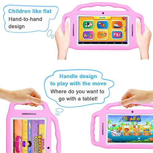 Kids Tablet Android 7.1, 7 Inch, HD Display, Quad Core, Children Tablet, 1GB RAM + 8GB ROM, with WIFI, Dual Camera, Bluetooth, Educational, Multi Touch Screen Kid Mode,With Kickstand … by BENEVE (Image #8)
