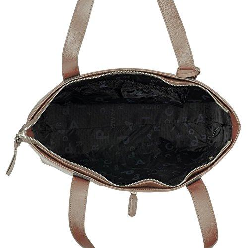 Picard Snow 3 8489 Damentasche Rindleder Shopper 40x33x12,5cm nougat