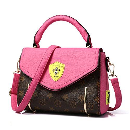 Sra. Mrs. Bolso Bandolera De Cuero Bolsa De Mensajero De La Pu Rosered Leather Shoulder Bag Messenger Bag Pu Rosered