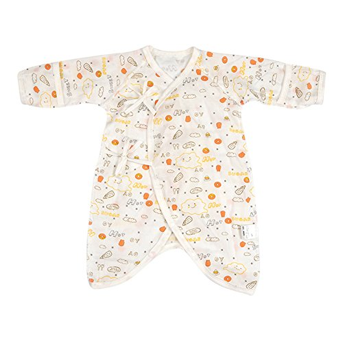 - Fairy Baby Newborn Baby Clothes Japanese Kimono Gown Organic Cotton Floral Romper Pajamas Size 0-3M (B)