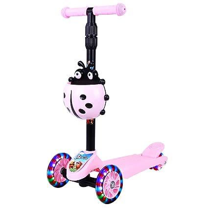 Amazon.com: Minmin Scooter,4 ruedas intermitentes de ...