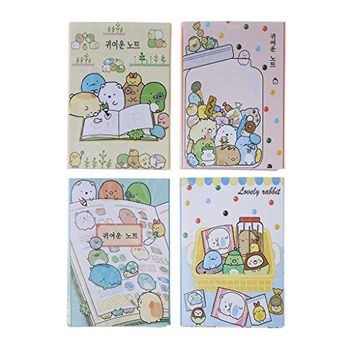 Milue Cartoon Animals 6 Folding Memo Pads Sticky Notes Bookmark Stationery Notepad New (Memo Pad Stationery)