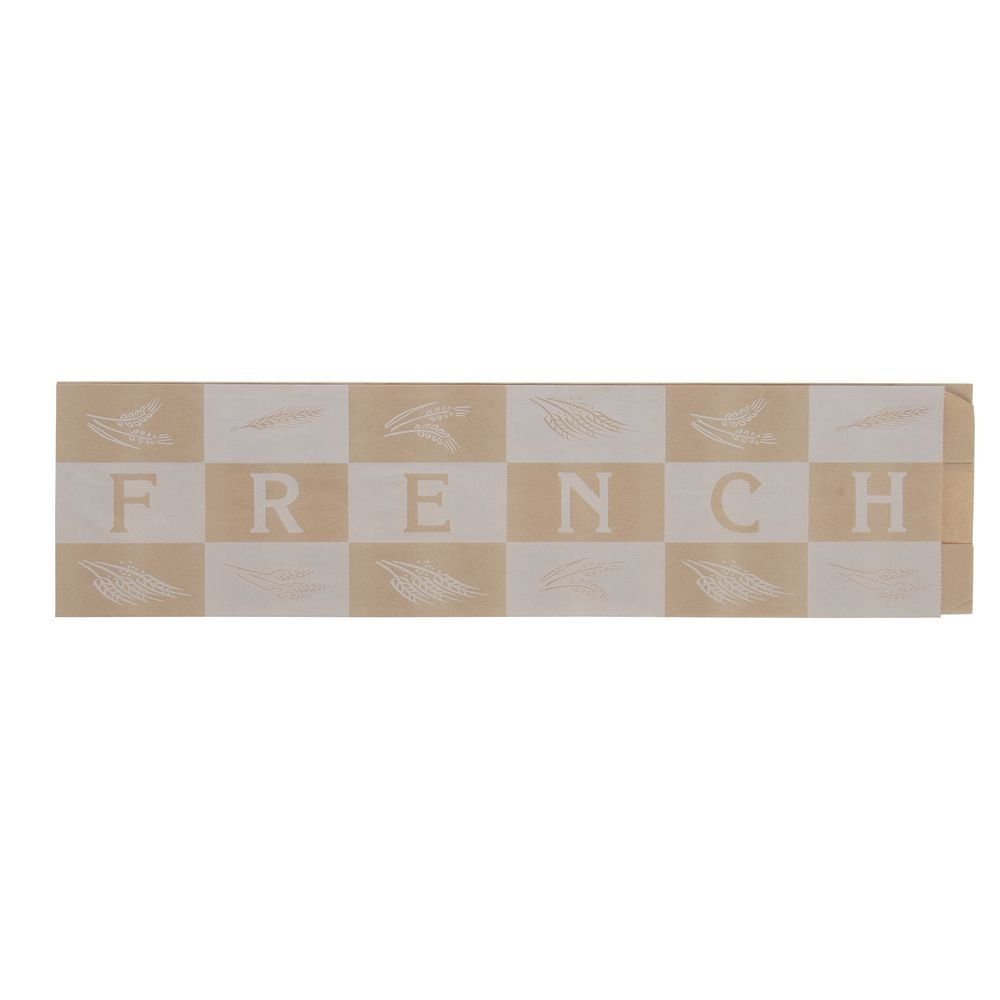 EcoCraft Artisan Bakery Bags Pinched Bottom ''French'' Bread Bag 5 1/4''L x 3 1/4''W x 20''H (1000/Pack) - HUB-81863