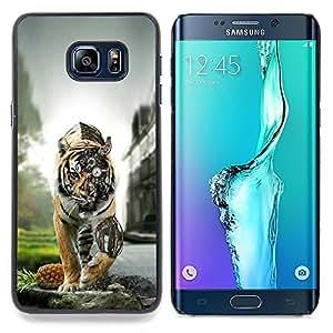 - Steampunk Tiger - - Cubierta del caso de impacto con el patr??n Art Designs FOR Samsung Galaxy S6 Edge Plus Queen Pattern
