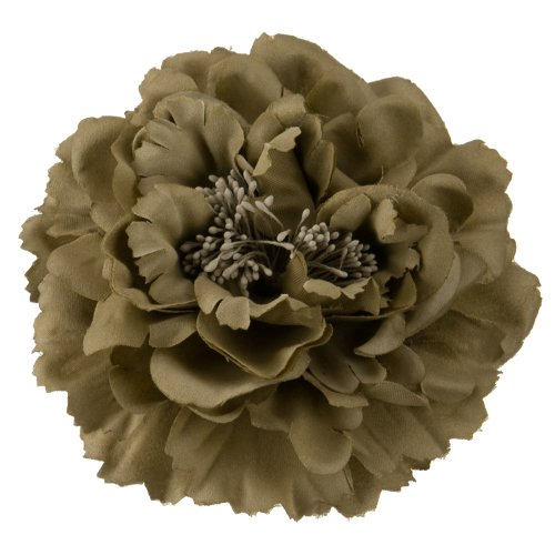 Multi Petal Flower with Pin and Clip - Taupe OSFM