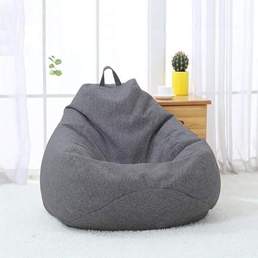 YQQ-Puff Bolsa De Frijoles Sillón Reclinable Bolsa De Frijol Gigante Relleno Asiento Beanbag De Juego Muebles De Jardín Interior/Exterior (Color : Gray 2, Size : 80x90cm): Amazon.es: Hogar