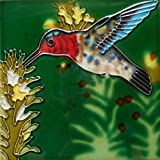 6 X 6 INCH HUMMINGBIRD TILE BY TILE CRAFT