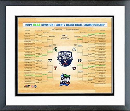 (NCAA Virginia Cavaliers 2019 Mens Basketball National Champions Bracket Photo (Size: 12.5