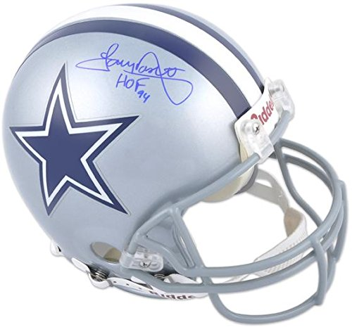 (Tony Dorsett Dallas Cowboys Autographed Pro-Line Riddell Authentic Helmet with HOF 94 Inscription - Fanatics Authentic Certified)