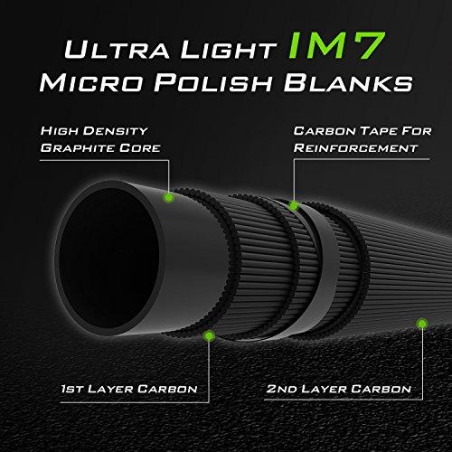 KastKing Calamus Ultra-Light Weight Spinning Fishing Rods, IM7 Micro