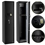 FCH Electronic 5 Rifle Gun Safe Large Firearms Shotgun Storage Cabinet with Small