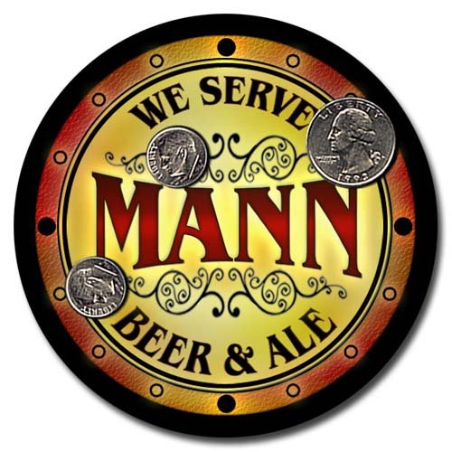 Mann Family Golden Beer & Ale Rubber Drink Coasters (Männer-chef)