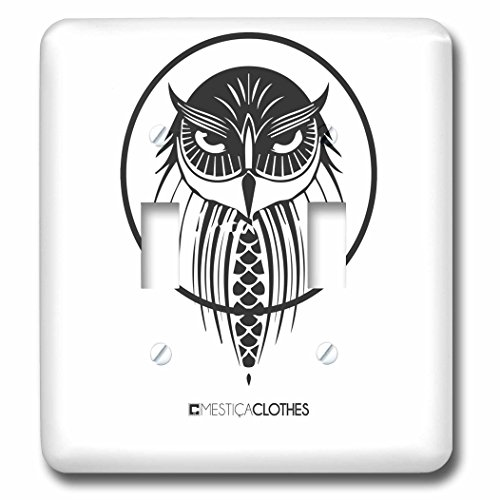3dRose Animals - Vector - Vector black design of an owl - Li