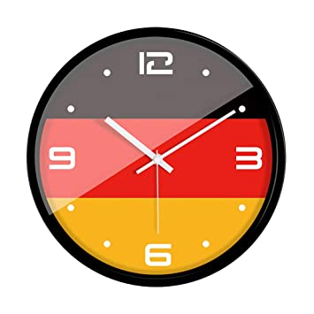 XLYYHZ Relojes Cuarzo Silencio Sin Hacer Tictac FáCil De Leer Reloj De Pared Hora EnergíA Precisa
