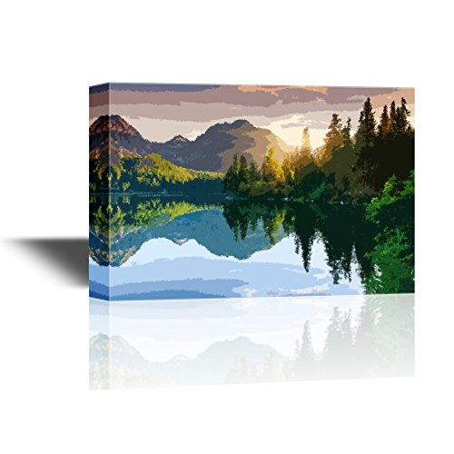 Landscape with Mountain and Forest by a Lake Gallery