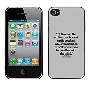 [Neutron-Star ] Snap-on Series Plastic Back Case Shell Skin Cover for Apple iPhone 4 / iPhone 4S / 4S [Inspirational Quote Text Letter Truth]