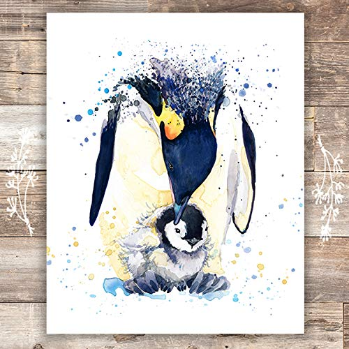 Penguin Wall Art Print - Unframed - 8x10 | Penguin Wall Decor