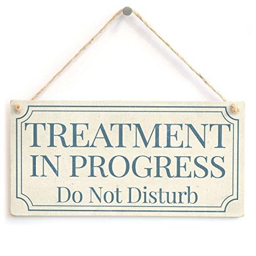 Meijiafei TREATMENT IN PROGRESS Do Not Disturb - Functional Do Not Disturb Notice Door Sign 10