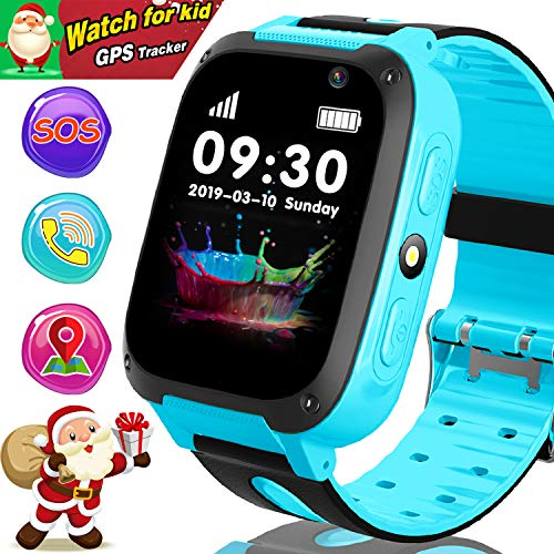 "Duperym Kids Smart Watch Phone - GPS Tracker for Kids Girls Boys with 1.44"" Touch Screen Cellphone SOS Anti-Lost Alarm Clock Camera Children Game Digital Wrist Watch Christmas Holiday Great Gifts from Duperym"
