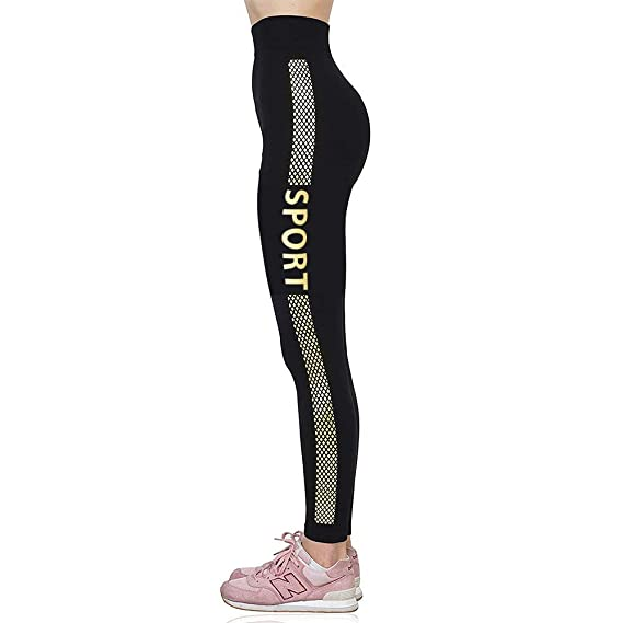 f5d0a560dfd U.S. CROWN Women s Polyester Yoga Pants Legging  Amazon.in  Clothing ...