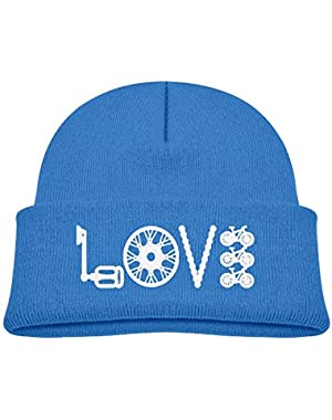 Funny Love Cycling Printed Infant Baby Winter Hat Beanie