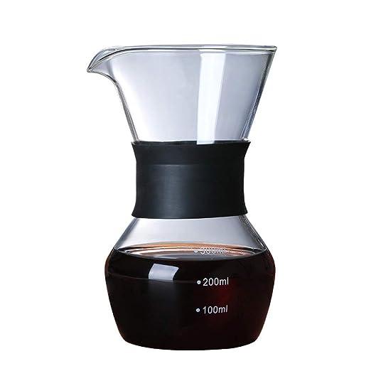 Uioy Resistente al Calor Olla de café de Cristal - cafetera Punta ...