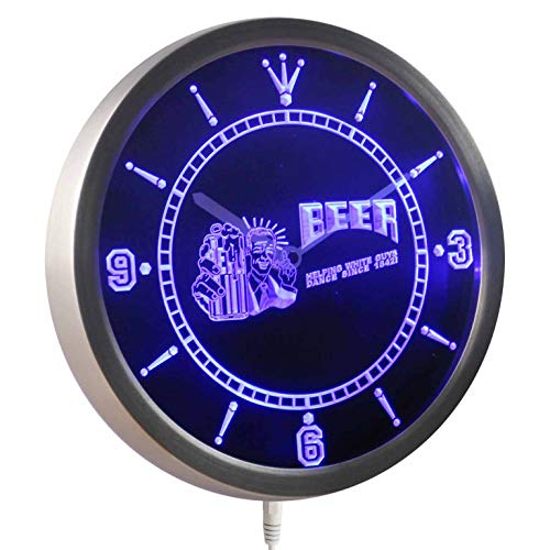ADVPRO nc0386-b Beer Helping White Guys Dance Since 1842 Neon Sign LED Wall Clock