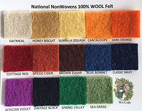 By the Sheet National Nonwovens 12 x 18 Antique White Wool Felt