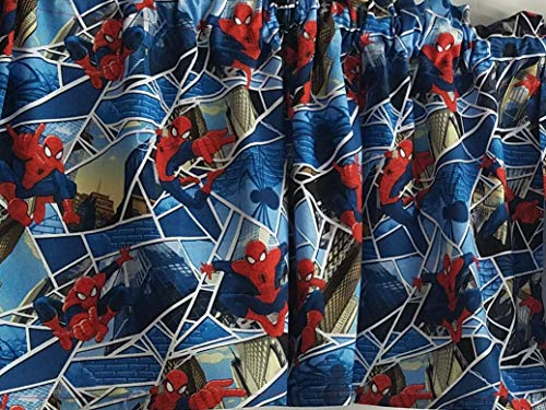 The Amazing Spider-Man Curtains, Marvel Comic Curtains, Short Curtains, Boy's Bedroom Curtains (41-42 Inches Wide x 15 Inches Long) (Curtains Spiderman Window)