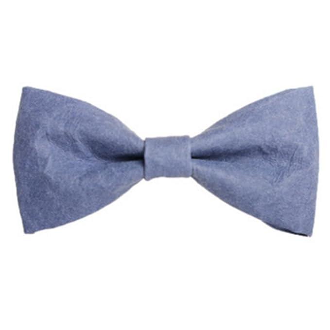 Pajarita de Boda para Hombre, con Bolsillo y Corbata, Color Azul ...