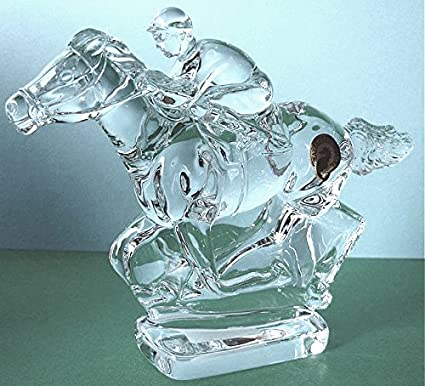 Amazoncom Waterford Crystal Racing Horse And Jockey Sculpture Made
