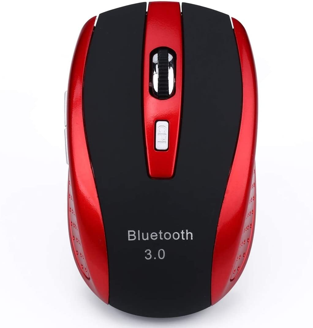 Color : Red A902 2400DPI Four-Speed Adjustable Bluetooth 3.0 Wireless Optical Mouse Red Durable