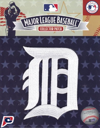 Official Mlb Baseball Patch (Detroit Tigers White Old English D Patch - Official MLB)