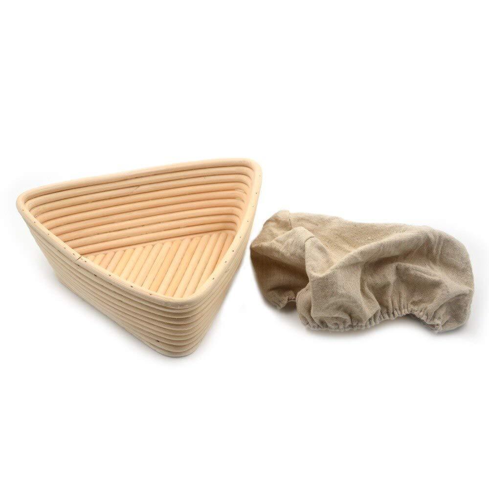 HOT- Baking & Pastry Tools - 1pc Triangel 20x20x6cm Banneton Bortform Rattan Basket Bread Dough Proofing Handmade Multi Storage - by Tini - 1 PCs