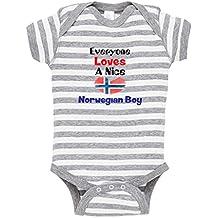 Cute Rascals Everyone Loves Norwegian Boy Norway Norwegians Baby Stripe Fine Bodysuit