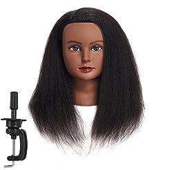 Traininghead 100% Real Hair Female Manne...