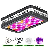 BESTVA Reflector Series 600W LED Grow Light Full Spectrum Grow Lamp for Hydroponic Indoor Plants Veg and Flower (Elite-600W)
