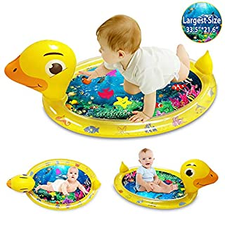 ibestby Inflatable Tummy Time Water Mat Fun Inflatable Water mat for Newborn Boys and Girls,Activity Center Your Baby's Stimulation Growth