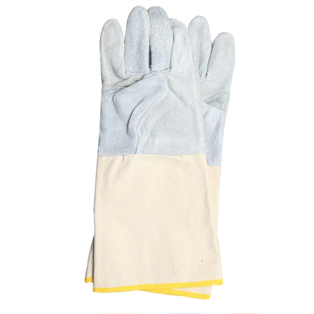 Guantes de soldadura Resistencia a alta temperatura Soldador resistente al desgaste Anti-calor Protección laboral Lona Aislamiento de soldadura de sección ...
