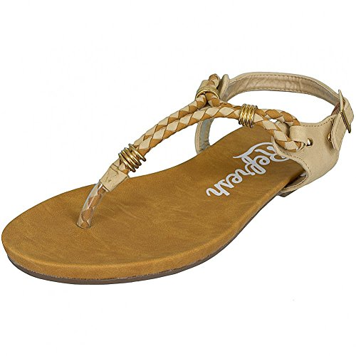 Refresh Shoes - Sandalias de vestir de Piel para mujer Negro negro Negro - pardo