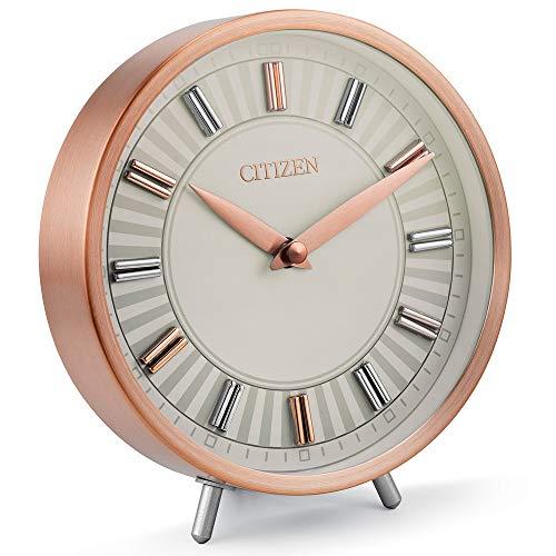 Citizen Decorative Rose Gold-Tone Table Clock CC1021