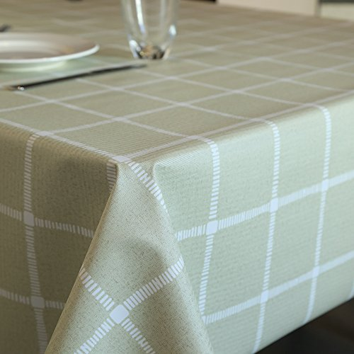 Tablecloth for Rectangle Tables, Vinyl Table Cover Wipe Clean PVC Table Cloth, Waterproof, Oil-proof, Mildew Proof 54